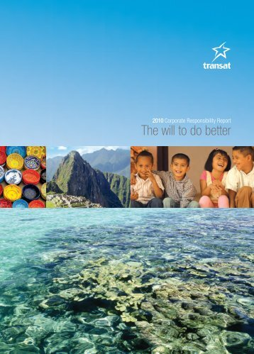 Transat Corporate Responsibility Report, 2010 [PDF]