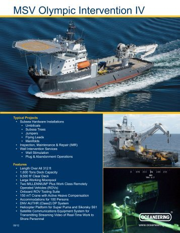 MSV Olympic Intervention IV - Oceaneering