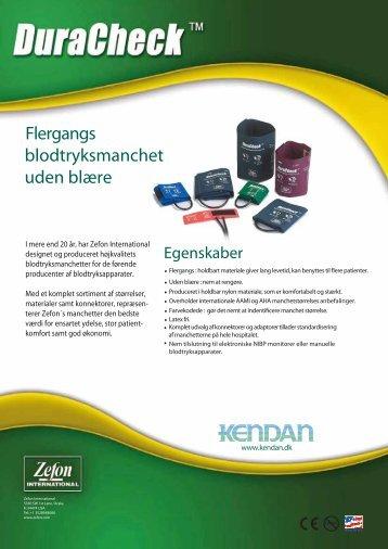Flergangs blodtryksmanchet uden blære - Kendan