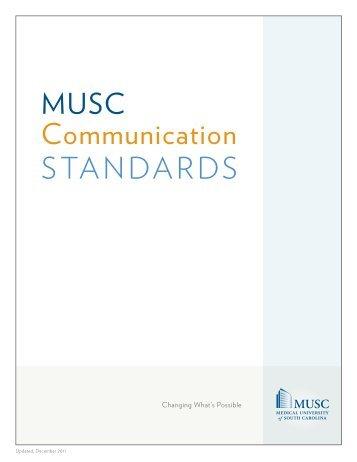 Communication Standards Manual - Medical Center Intranet