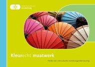 Kleurecht Maatwerk (pdf) - In voor zorg!