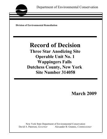 Three Star Anodizing Record of Decision (PDF) - New York State ...
