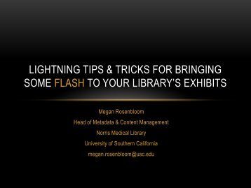 Lightning tips and tricks for bringing some flash to your ... - MLGSCA