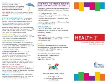 Health 1st brochure - Medical Center Intranet
