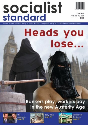 1 Socialist Standard July 2010 - World Socialist Movement
