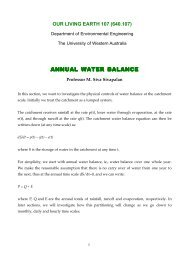 annual water balance - Civil, Environmental, and Architectural ...