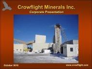 Crowflight Webcast - CaNickel Mining Limited