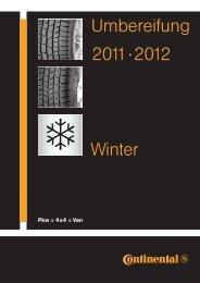Montagegids winter 2011/2012 - Continental