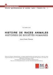 Le cahier : histoire de races animales histoires de sociétés humaines