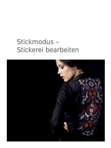 Stickmodus – Stickerei bearbeiten - Pfaff