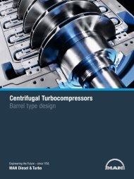 Centrifugal Turbocompressors - MAN Diesel & Turbo