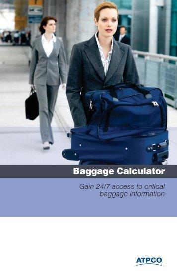 Baggage Calculator product brochure - atpco