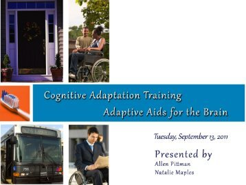 Cognitive Adaptation Training - National Association of States ...