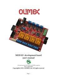 MOD-IO development board user's manual - Olimex