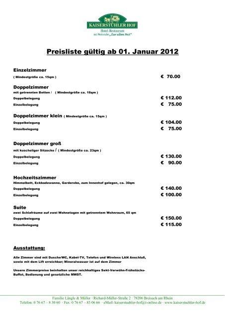 0 76 67 – 8 30 60 ∙ Fax: 0 - Kaiserstuehler Hof Breisach