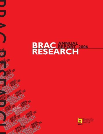 Download RED 2006 Annual Report - BRAC Research and ...