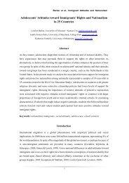 Adolescents' Attitudes toward Immigrants' Rights and ... - IEA