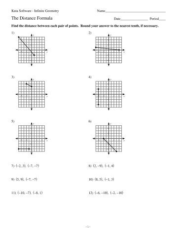 Worksheets Coordinate Geometry Distance Formula Worksheet understanding the distance formula worksheet answers intrepidpath pythagorean theorem with key