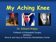 My Aching Knee - UM Bone & Joint Injury Prevention ...