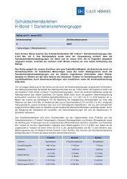Schuldscheindarlehen - Euler Hermes Rating Deutschland GmbH