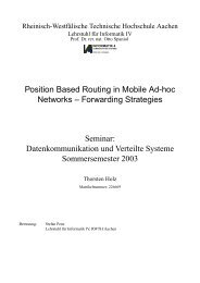 Position Based Routing in Mobile Ad-hoc Networks ... - Informatik 4