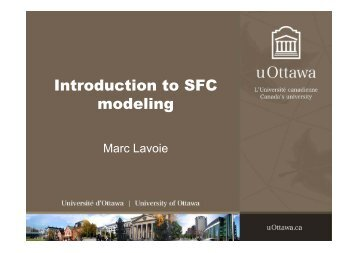 Introduction to SFC modeling - Karl Betz
