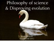 Philosophy of Science - Brian O'Meara Lab