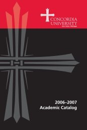 2006–2007 Academic Catalog - Concordia University Ann Arbor
