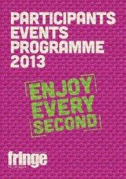 2013 Participants' Events Programme - Edinburgh Festival Fringe