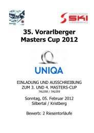 Masters 2012 Silbertal.pdf - Vorarlberger Skiverband