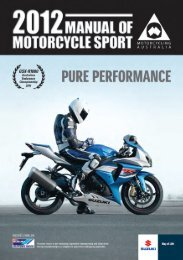 2012 Manual of Motorcycle Sport - Motorcycling Australia