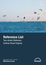 Reference List - MAN Diesel & Turbo