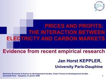 Marchés de l'électricité et marchés du carbone - Institut Finance ...