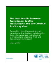 The relationship between Transitional Justice mechanisms and the ...