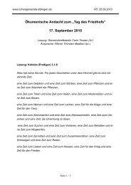 """Ökumenische Andacht zum """"Tag des Friedhofs"""" - der ..."""