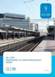 Maankäyttö ja raideverkkoselvitys MARA 9/2010 - HSL