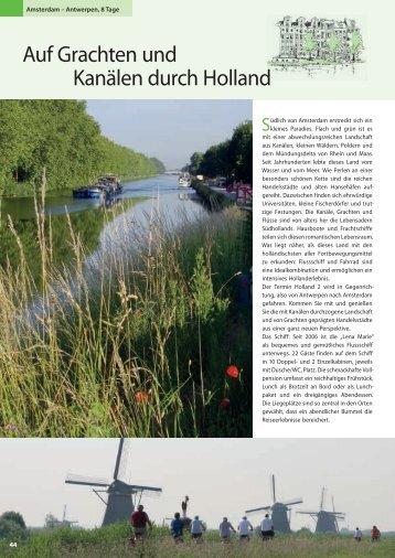 Auf Grachten und Kanälen durch Holland - Die Landpartie Radeln ...