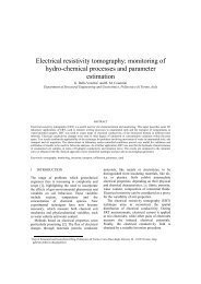 Electrical resistivity tomography: monitoring of hydro ... - Kivi Niria