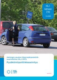 Pysäköintipolitiikkaselvitys, HLJ 2011 - HSL