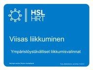 Liikkumisen ohjaus - HSL