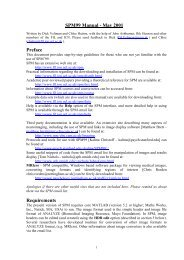 SPM99 Manual - Wellcome Trust Centre for Neuroimaging
