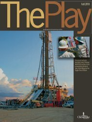 The Play, Fall 2010 Issue - Chesapeake Energy