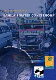 The corporate muddle of Manila's water concessions - WaterAid