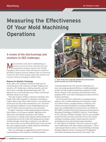 Measuring the Effectiveness Of Your Mold Machining Operations (pdf)