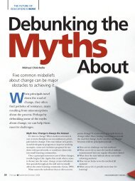 Debunking the Myths About Change - National Association of ...