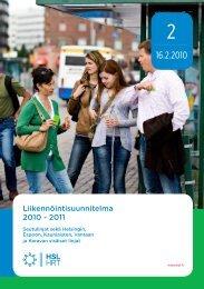 Liikennöintisuunnitelma 2010 - 2011 - HSL