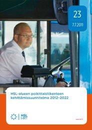 HSL-alueen poikittaisliikenteen kehittämissuunnitelma 2012–2022