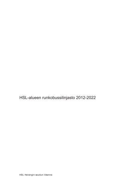 HSL-alueen runkobussilinjasto 2012-2022