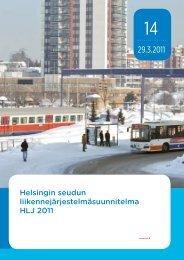 Helsingin seudun liikennejärjestelmäsuunnitelma HLJ 2011 - HSL