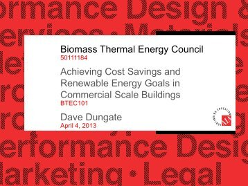 Presentation - Northeast Biomass Heating Expo 2013